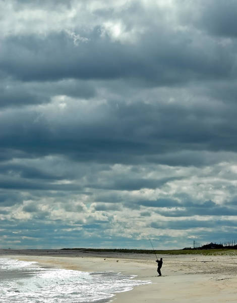 Photograph - Sandy Hook Fisherman by Gary Slawsky