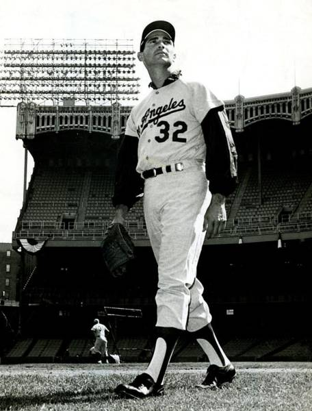 Vintage Baseball Wall Art - Photograph - Sandy Koufax Vintage Baseball Poster by Gianfranco Weiss