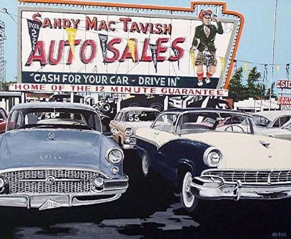 Sandy Mactavish Art Print by Paul Guyer