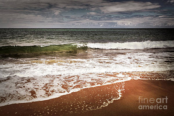 Foaming Wall Art - Photograph - Sandy Ocean Beach by Elena Elisseeva