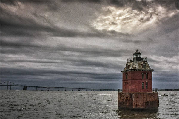 Baltimore Photograph - Sandy Point Shoal Lighthouse by Robert Fawcett