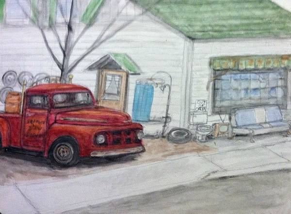 My Son Painting - Sanford And Son Salvage by Larry Lamb