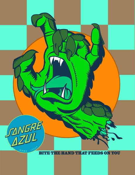 Checker Digital Art - Sangre Azul by Dedos