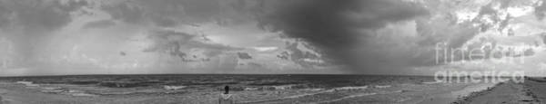 Photograph - Sanibel Island Panorama In Black And White by Jeff Breiman