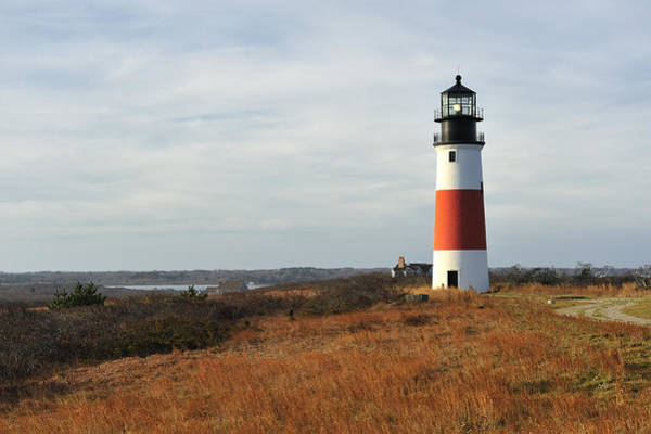 Nantucket Photograph - Sankaty Head Lighthouse Nantucket In Autumn Colors by Marianne Campolongo