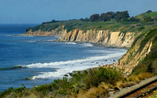 California Coast Digital Art - Santa Barbara Coast by Ernie Echols