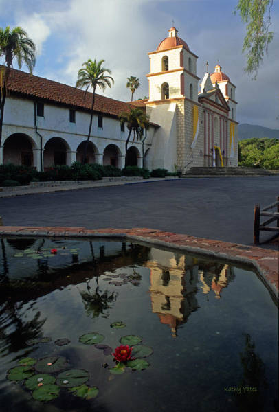 Mission Santa Barbara Photograph - Santa Barbara Mission Reflections by Kathy Yates