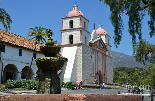 Mission Santa Barbara Photograph - Santa Barbara Mission by RicardMN Photography