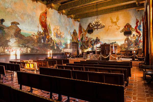 Photograph - Santa Barbara Mural Room by Thomas Hall