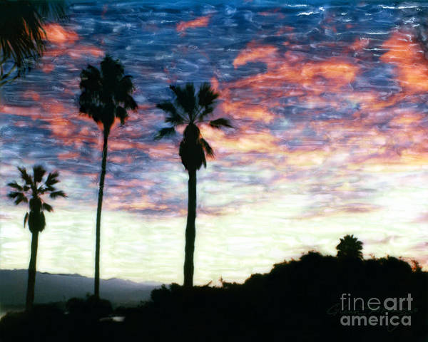 Mixed Media - Santa Barbara Palm Sunrise by Glenn McNary