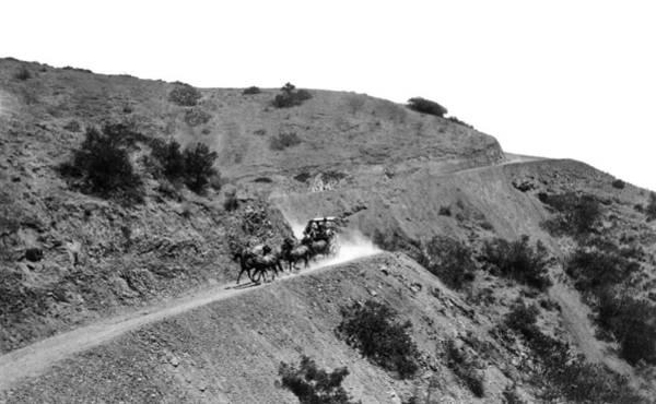 Stagecoach Photograph - Santa Catalina Stagecoach by Frank L. Park