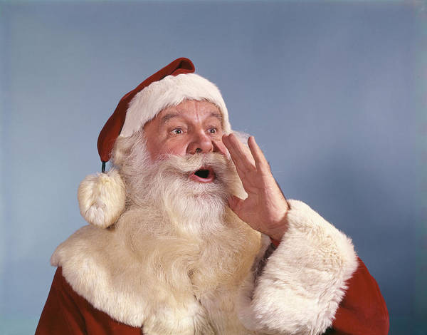 Jolly Holiday Photograph - Santa Claus Calling by Vintage Images