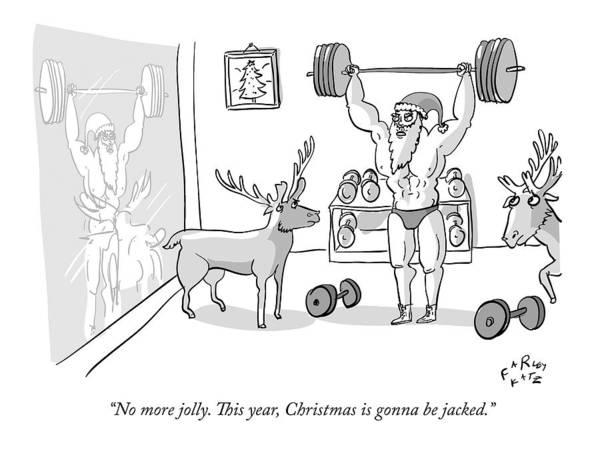Exercise Drawing - Santa Claus by Farley Katz