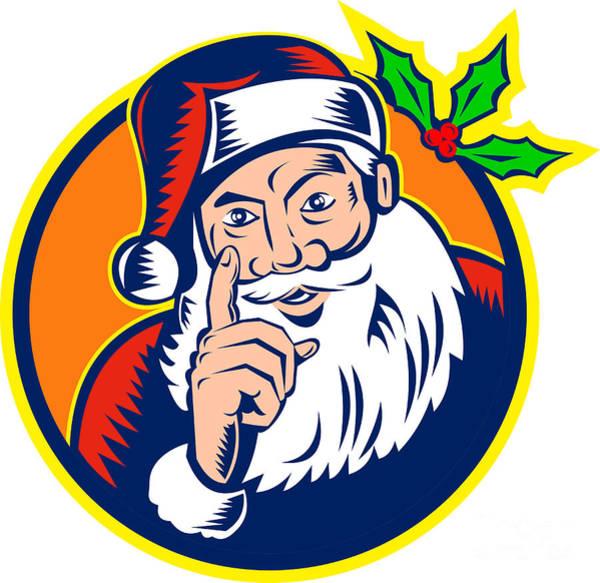 Yule Digital Art - Santa Claus Father Christmas Retro by Aloysius Patrimonio