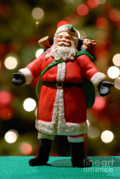 Jolly Holiday Photograph - Santa Claus Figure by Amy Cicconi