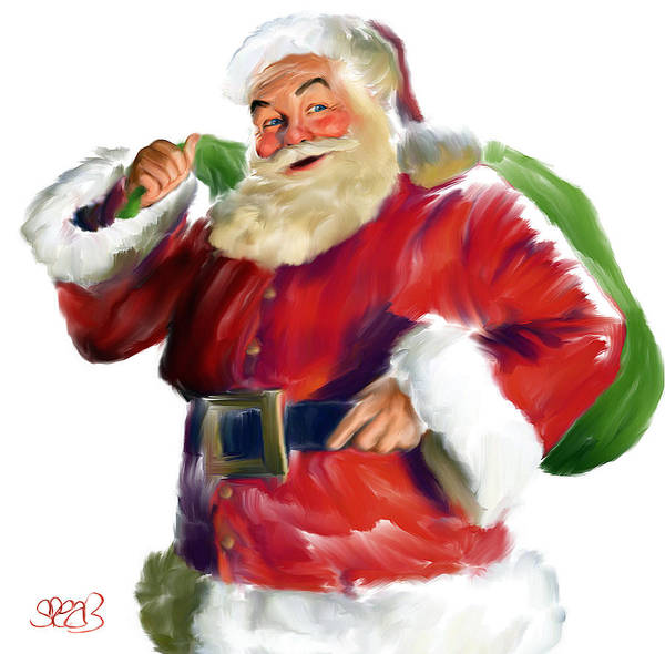 Coca Cola Painting - Santa Claus by Mark Spears