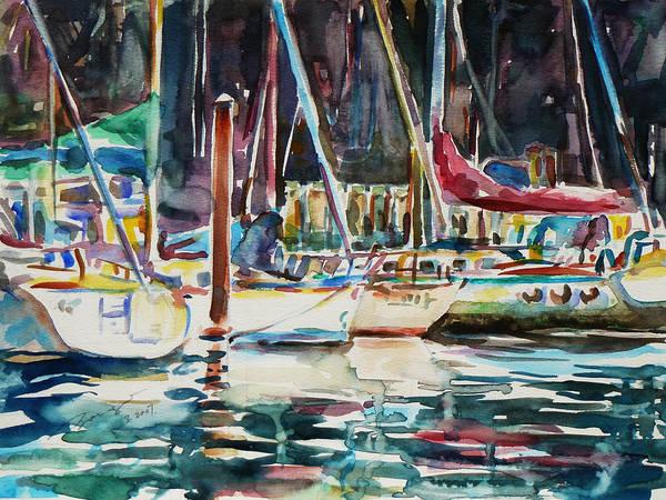 Painting - Santa Cruz Dock by Xueling Zou