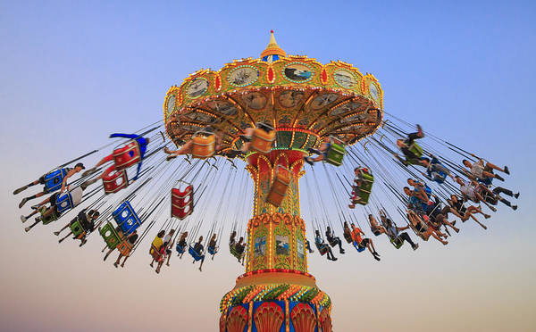 Carnival Photograph - Santa Cruz Seaswing At Sunset 8 by Scott Campbell