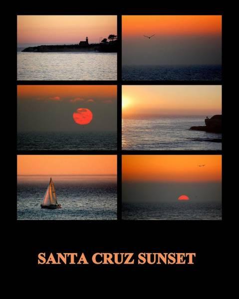 Photograph - Santa Cruz Sunset  by AJ  Schibig