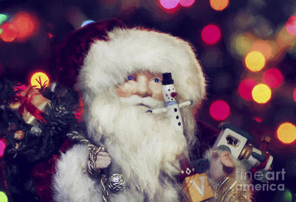 Jolly Holiday Photograph - Santa by Darren Fisher