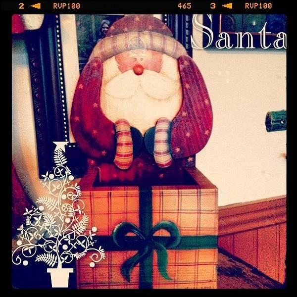 Holiday Wall Art - Photograph - #santa #decoration #christmas #holiday by Teresa Mucha