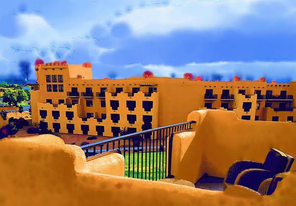 Digital Art - Santa Fe Balcony by Alec Drake