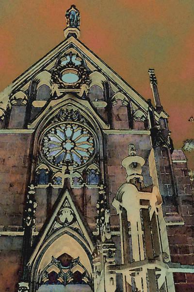 Digital Art - Santa Fe Cathedral by David Hansen