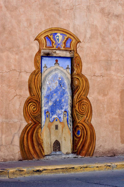 Mexico Photograph - Santa Fe Door Mural by Carol Leigh