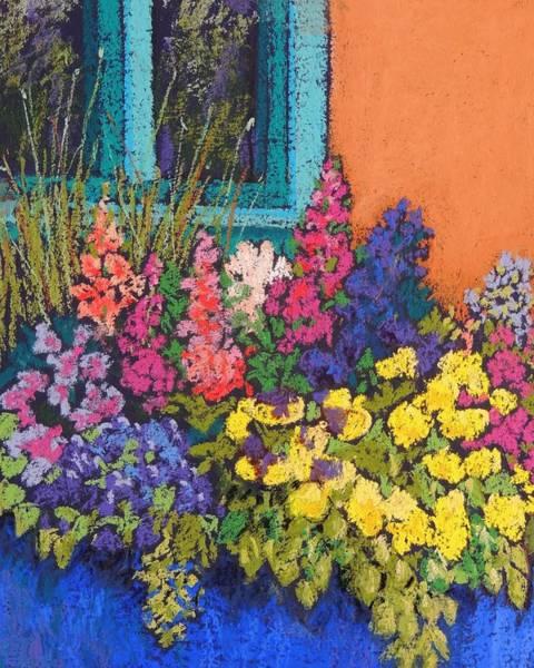 Box Canyon Wall Art - Pastel - Santa Fe Flowers by Candy Mayer