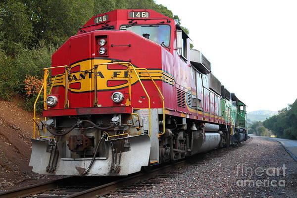 Photograph - Santa Fe Locomotive At Fernandez Ranch California - 5d21151 by Wingsdomain Art and Photography