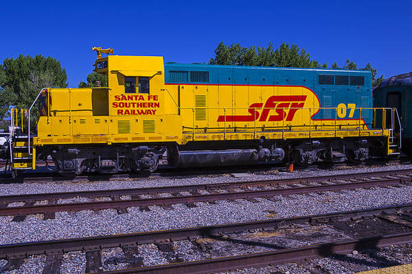 Commuter Rail Wall Art - Photograph - Santa Fe Southern Railway Engine by Garry Gay