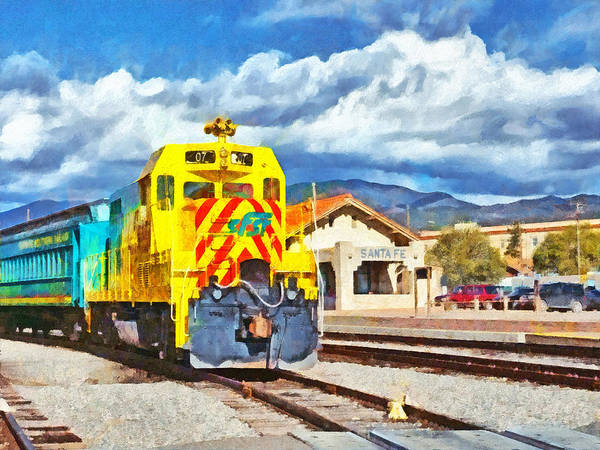 Digital Art - Santa Fe Southern Railway Train by Digital Photographic Arts