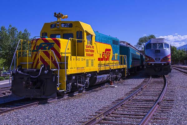 Commuter Rail Wall Art - Photograph - Santa Fe Trains by Garry Gay