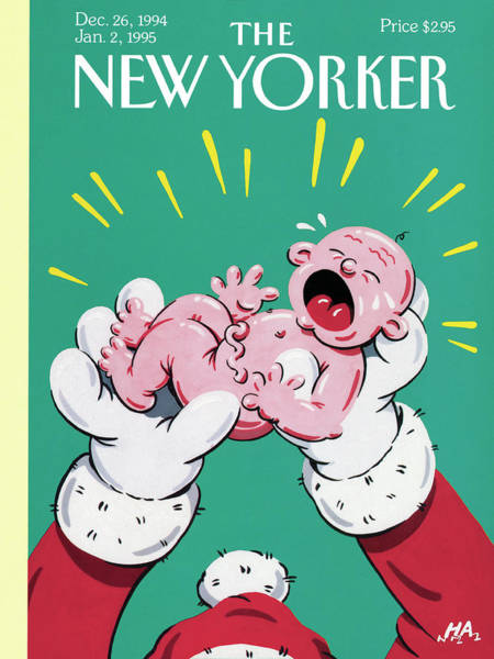 1994 Painting - New Yorker December 26th, 1994 by Bob Zoell HA