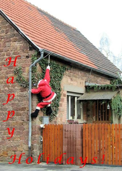 Photograph - Santa In Germany by Gordon Elwell