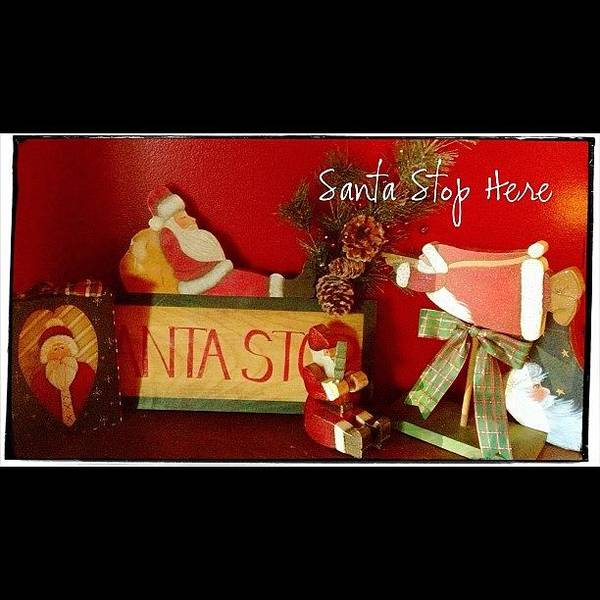 Holiday Wall Art - Photograph - Santa Is Sure To Stop Here! #altphoto by Teresa Mucha