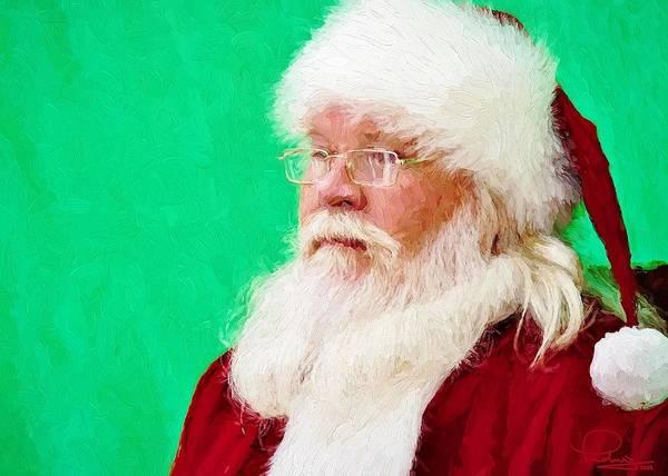 Photograph - Santa by Ludwig Keck