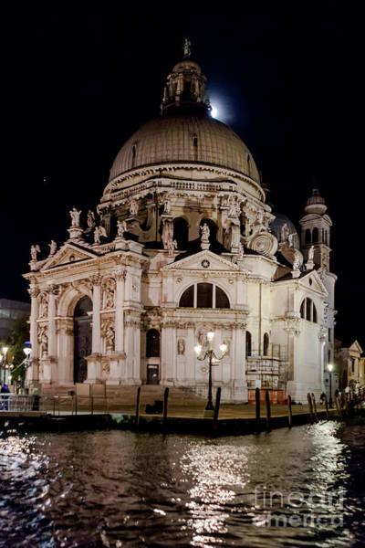 Photograph - Santa Maria Della Salute At Night by Paul Cowan