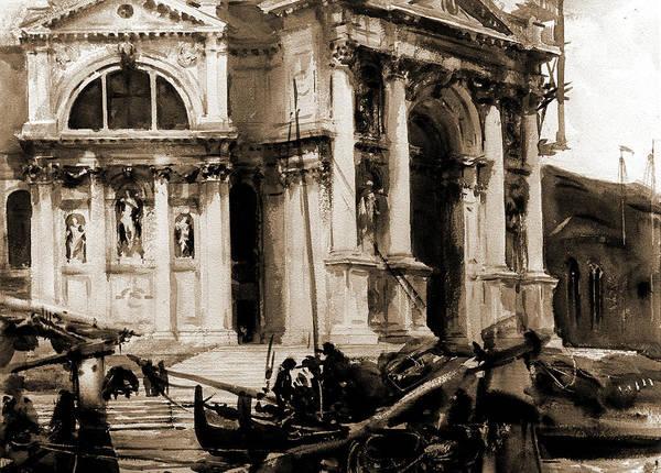Wall Art - Drawing - Santa Maria Della Salute, Sargent, John Singer, 1856-1925 by Litz Collection