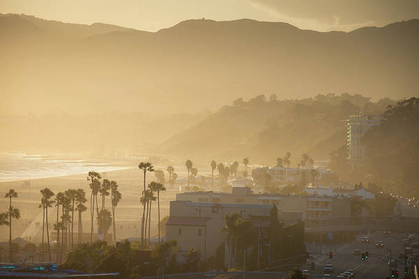 Travel Destinations Photograph - Santa Monica Beach by Halbergman