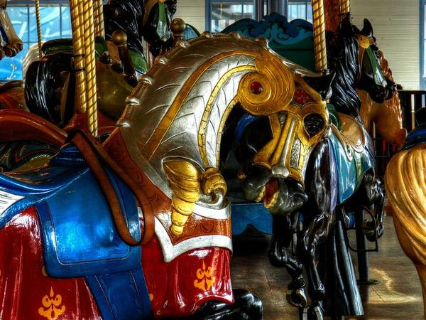 Photograph - Santa Monica Carousel 001 by Lance Vaughn