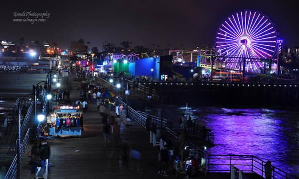 Digital Art - Santa Monica Pier 5 by Gandz Photography