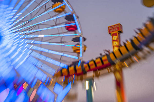 Photograph - Now I Know It Was A Dream Santa Monica Ferris Wheel by Scott Campbell