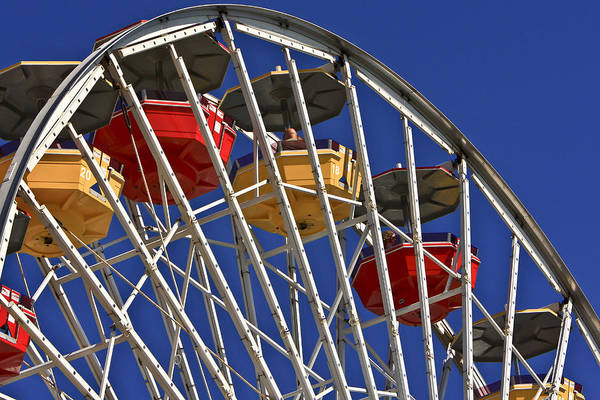 Photograph - Santa Monica Pier Ferris Wheel by Jim Moss
