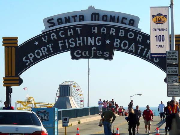 Photograph - Santa Monica Pier by Jeff Lowe