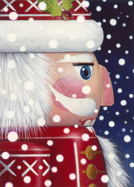 Santa Nutcracker Art Print