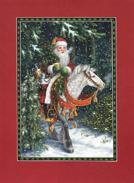 Santa Of The Northern Forest Art Print
