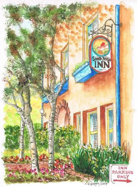 Paula Wall Art - Painting - Santa Paula Inn In Santa Paula - California by Carlos G Groppa