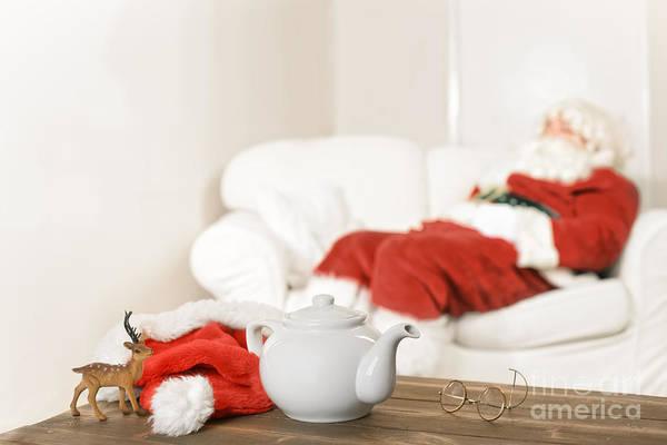 Santa Resting Art Print