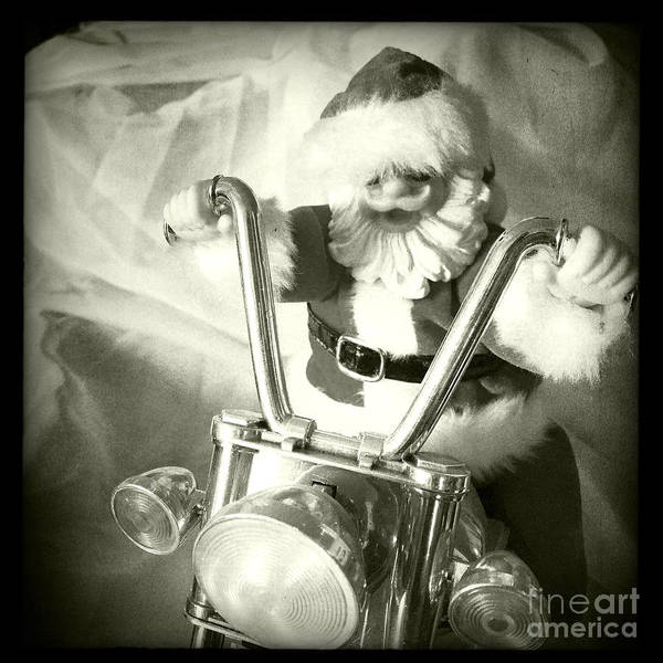 Wall Art - Photograph - Santa Rides His Motorcyle by Nina Prommer